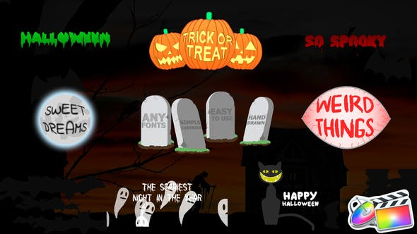 Cover Image for Halloween Titles | FCPX