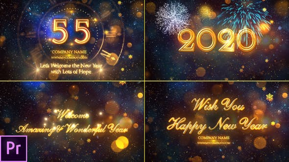 Cover Image for New Year Countdown 2020 - Premiere Pro