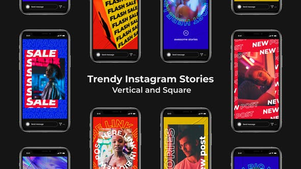 Thumbnail for Trendy Instagram Stories | Vertical and Square