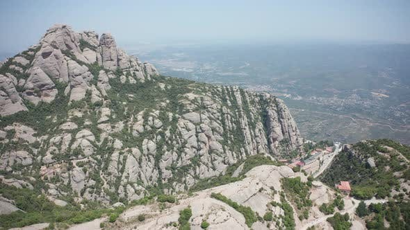 Thumbnail for Aerial Shot of Multi-peaked Mountain Range