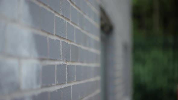 Thumbnail for Young man walking by wall and smiling at camera
