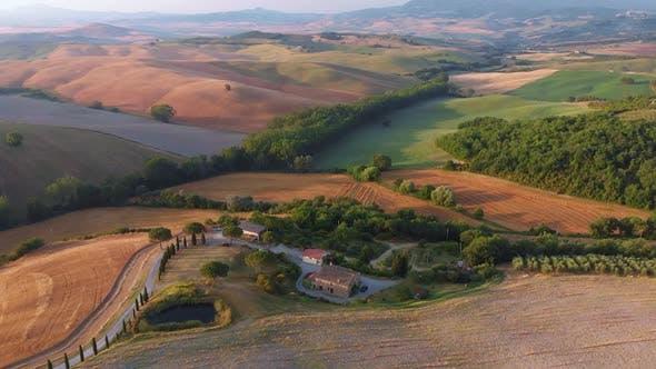 Aerial Toskana Landschaft