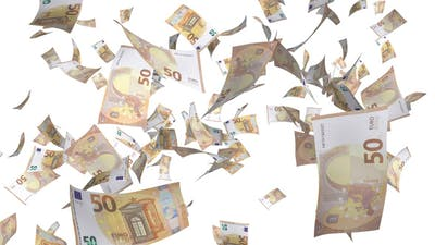 Euro Bills Falling
