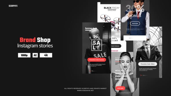 Thumbnail for Instagram Stories - Brand Shop
