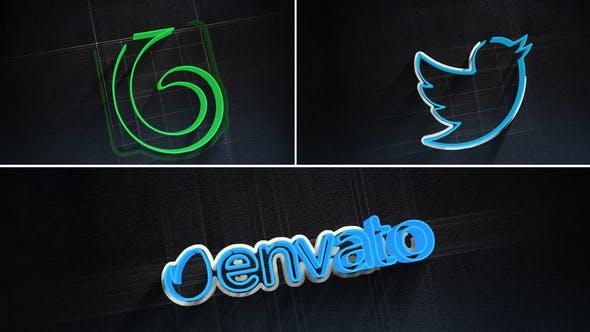Thumbnail for 3D Stroke Logo Reveal