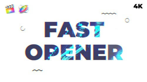 Fast Opener   FCPX & Motion 5