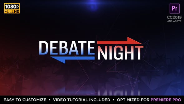 Thumbnail for Debate Night Elements | MOGRT for Premiere Pro