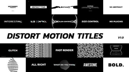 Distort Motion Titles | Premiere Pro