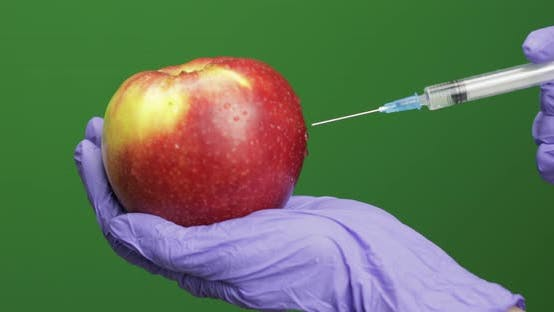 Thumbnail for Female Scientist Makes a Injection with a Medicine Syringe in Apple