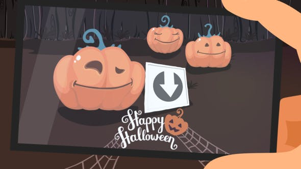 Cover Image for Funny Pumpkins. Halloween Slideshow.