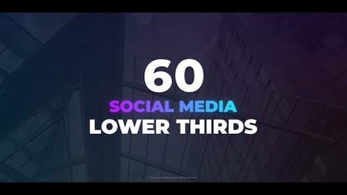 60 Social Media Lower Thirds