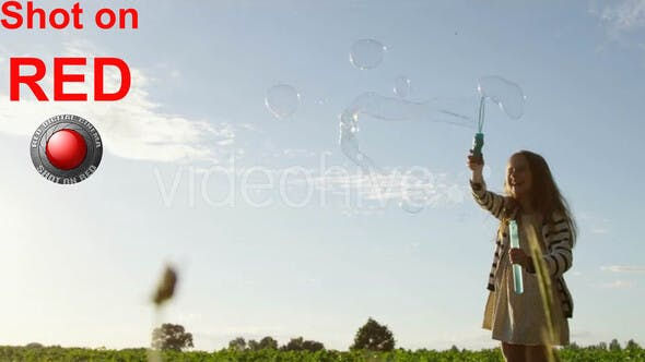 Thumbnail for Childhood Happy Girl with Air Bubbles