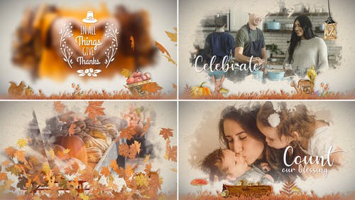 Thanksgiving Watercolored Slideshow