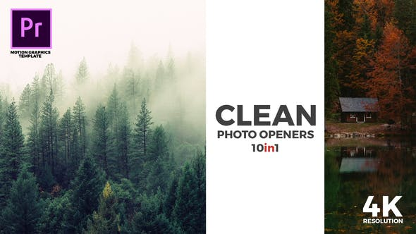 Thumbnail for Clean Photo Openers - Logo Reveal