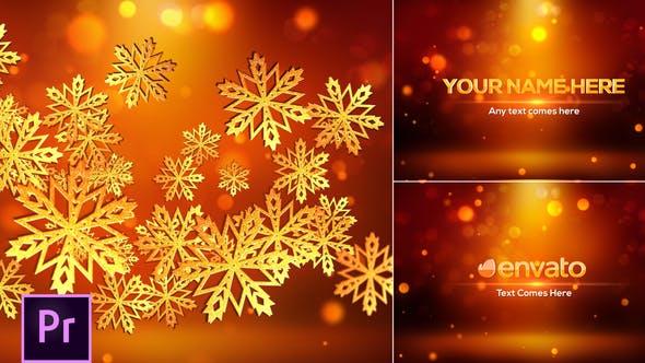 Thumbnail for Snowflakes Logo - Premiere Pro