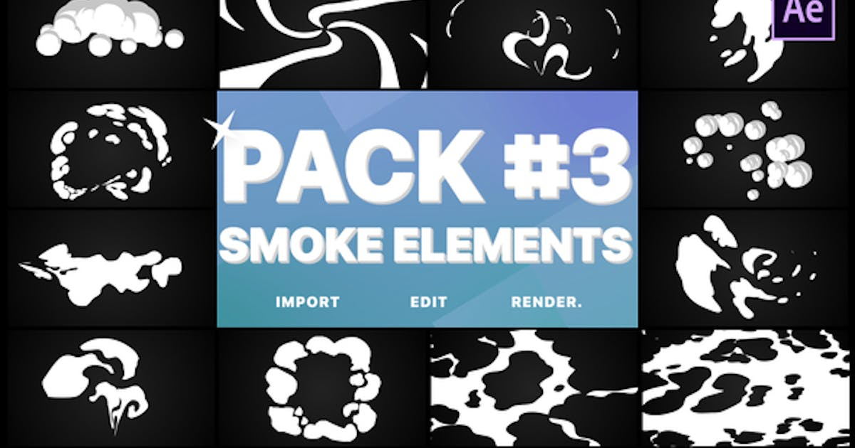 Smoke Elements Pack 03