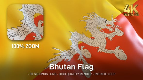 Thumbnail for Bhutan Flag - 4K