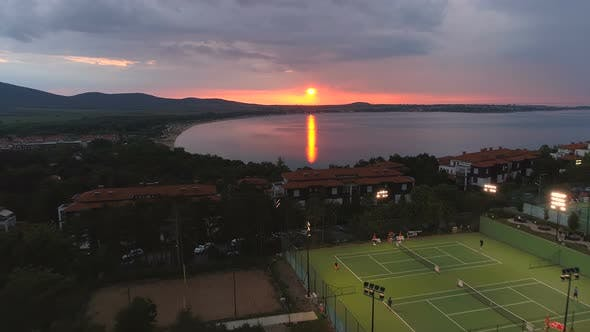 Thumbnail for Day End in Bulgarian Resort with Villas and Swimming Pools