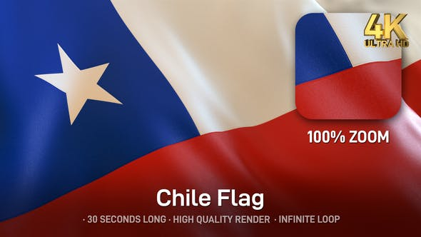 Thumbnail for Chile Flag - 4K
