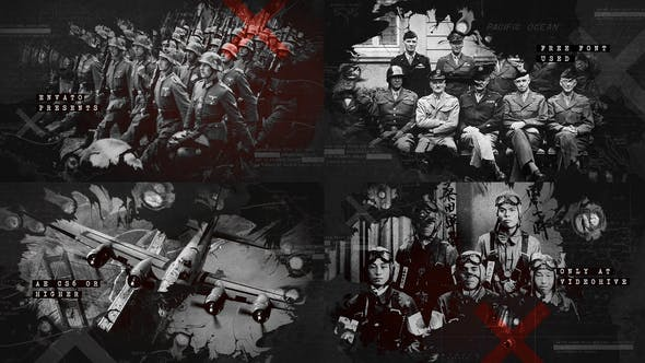 Thumbnail for Ink Bleed History Opener / World War Credits / Significant Events of Past / Old Retro Chronicle