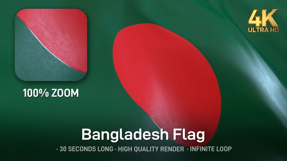 Thumbnail for Bangladesh Flag - 4K