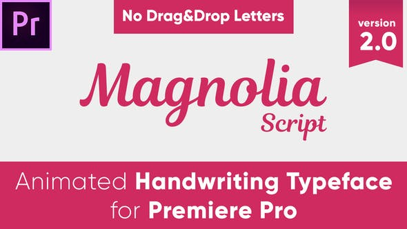 Thumbnail for Magnolia - Animated Handwriting Typeface