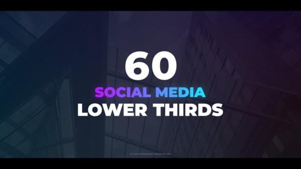 Thumbnail for 60 Social Media Lower Thirds