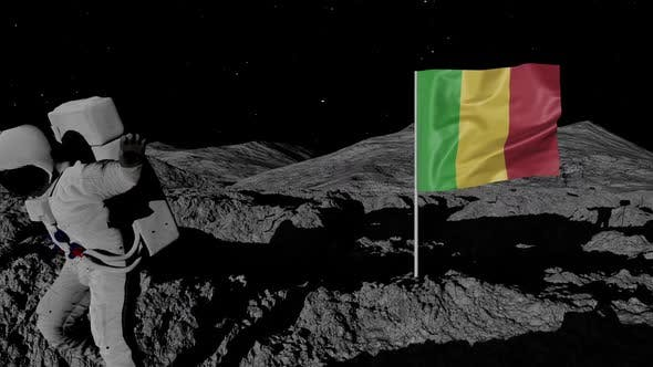 Thumbnail for Astronaut Planting Mali Flag on the Moon