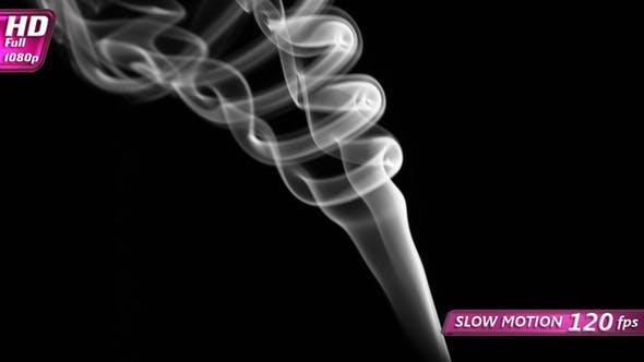 Ornate Curves Flowing Smoke
