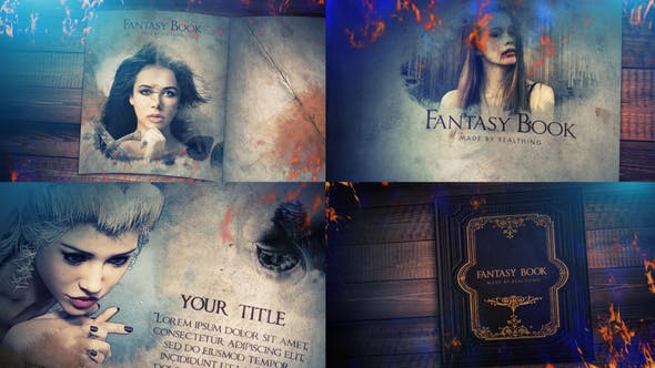Thumbnail for Fantasy Book Opener Slideshow