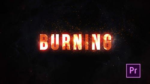Burning Fire Title - Premiere Pro