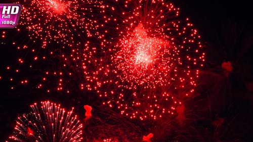 Fireworks Flashes In The Black Sky