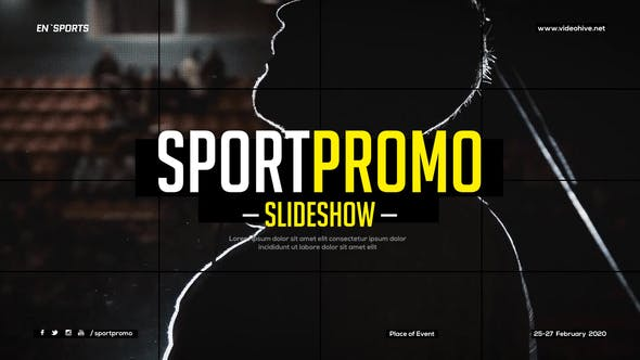 Sport Promo Slideshow / Fitness Event Opener / Grid Workout Gallery