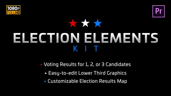 Thumbnail for Election Elements Kit | MOGRT for Premiere Pro