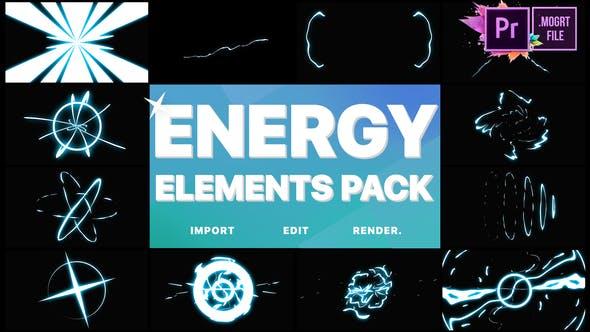 Thumbnail for Cartoon Energy Elements Pack   Premiere Pro MOGRT