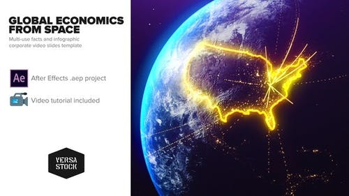 Global Economics From Space Infographics