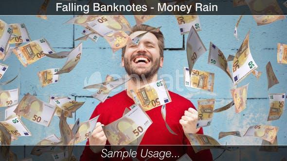 Thumbnail for Falling Money Euro Bills