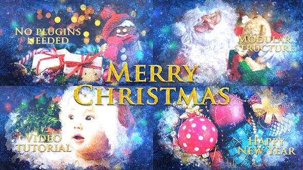Thumbnail for Merry Christmas Slideshow / Holiday Greetings / Winter Memories Album / New Year Titles
