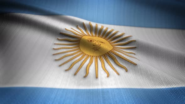 Argentina Flag Seamless Loop