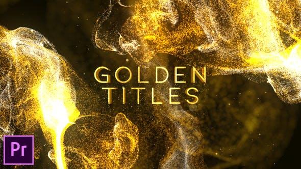 Thumbnail for Golden Titles - Premiere pro