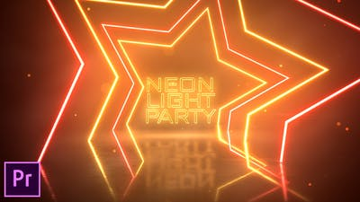Neon Light Party Opener - Premiere Pro