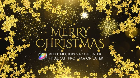 Thumbnail for Golden Christmas Wishes - Apple Motion
