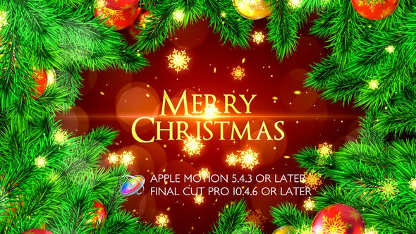 Thumbnail for Merry Christmas Opener - Apple Motion