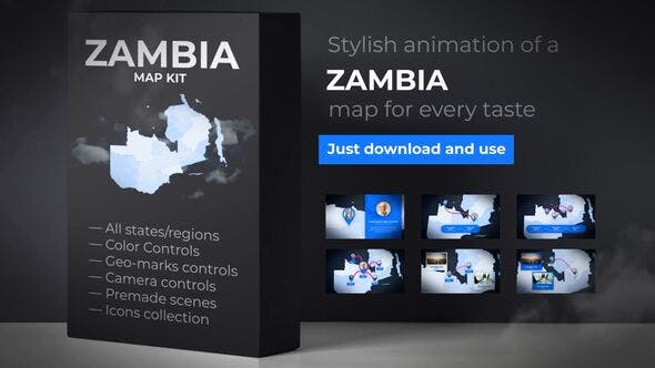Thumbnail for Zambia Map - Republic of Zambia Map Kit