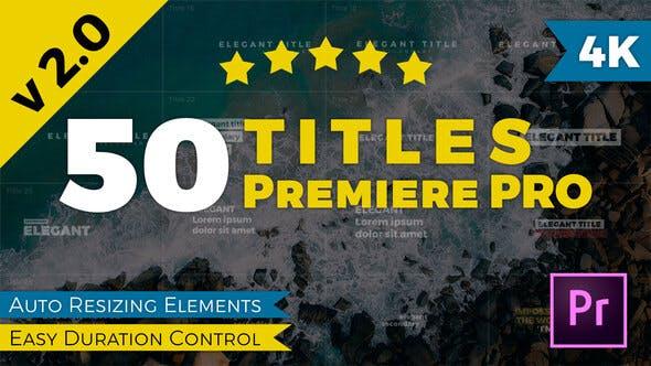 Titles Premiere Pro