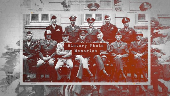 Thumbnail for History Photo Memories / Retro Chronicle Slideshow / World War Opener / Significant Events of Past