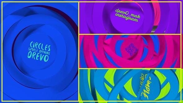 Thumbnail for Círculos Simple Abertura/Transiciones/Logotipo Minimal/Youtube Clean Intro/ Dibujos Animados Kid TV/ Baby/ Gratis