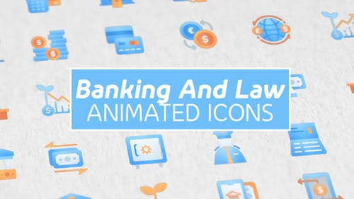 Banking and Law Modern Animated Icons