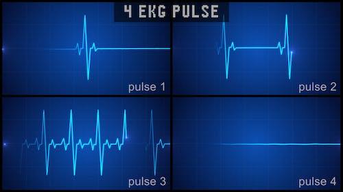 Digital EKG Pulse Display Set