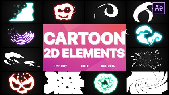 Thumbnail for 2D Cartoon Elements | After Effects